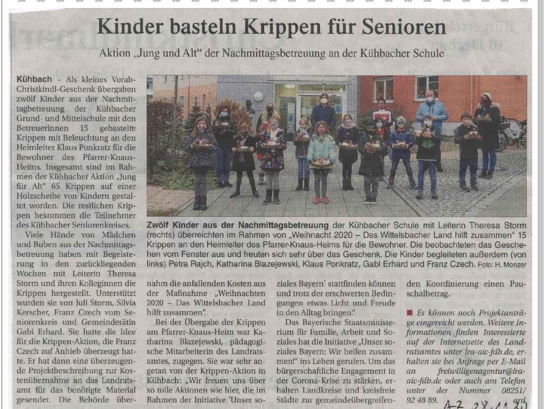 2020_Krippenaktion_Zeitungsbericht_2