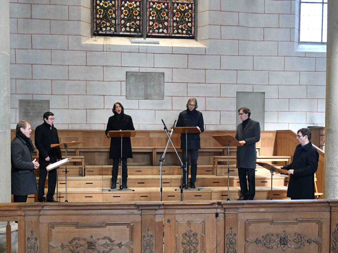 Das Vokalensemble Singer Pur gestaltete die Aschermittwochsliturgie musikalisch.