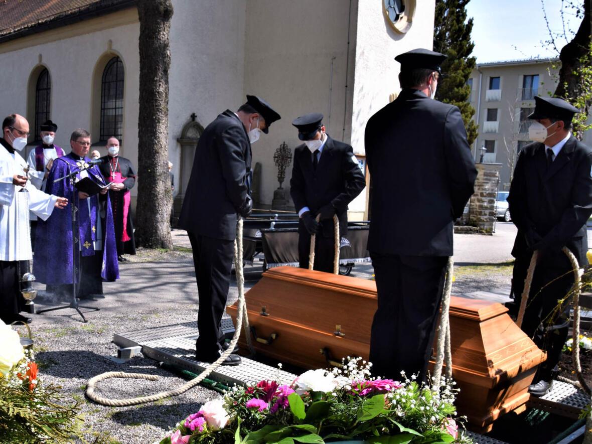 Die Beisetzung von Prälat Dr. Lupp in Kempten (Foto: Sabine Verspohl-Nitsche / pdke)