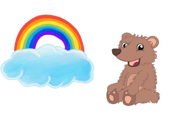 Bild Regenbogen und Bär