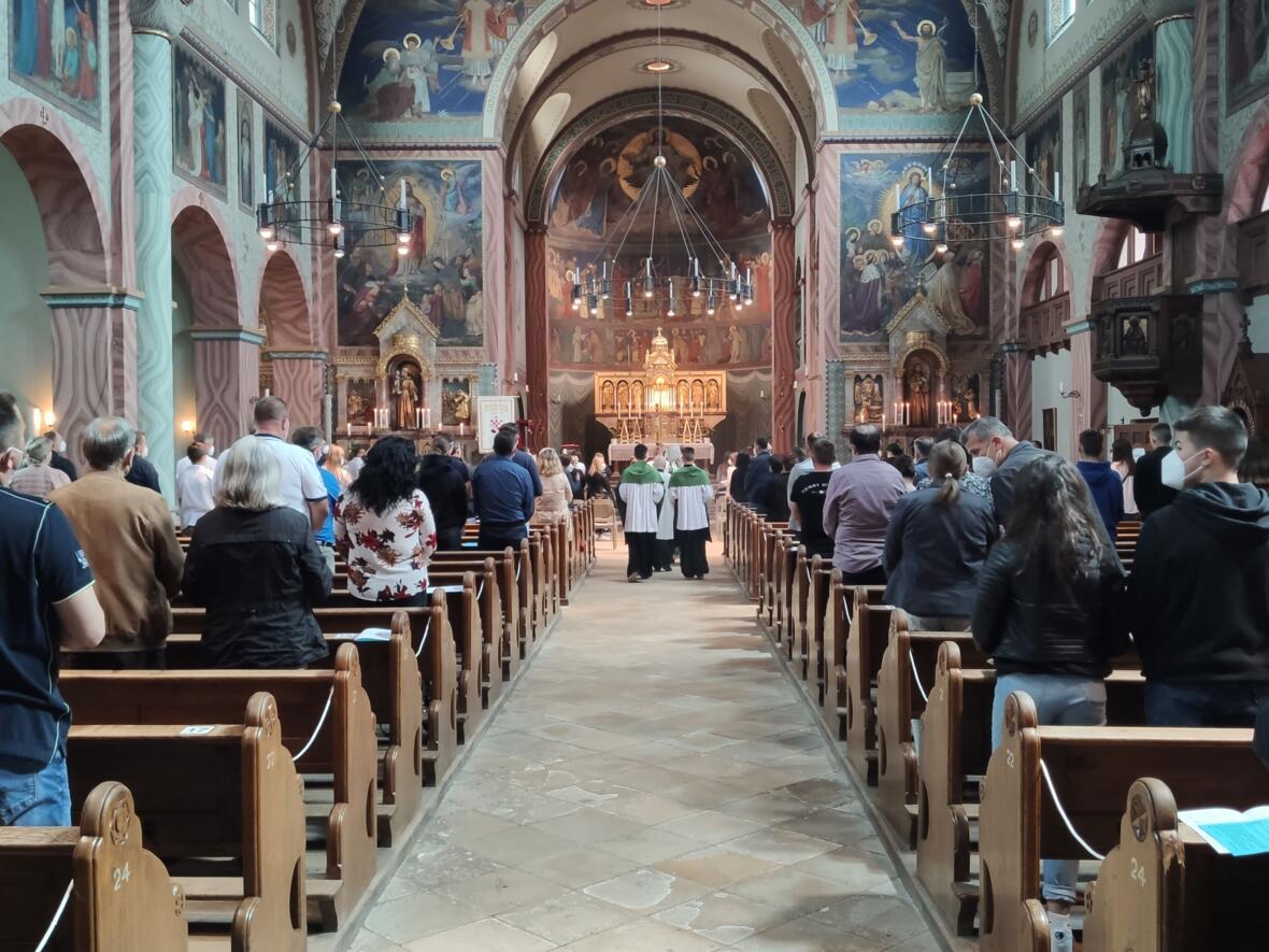 Der Gottesdienst in St. Sebastian (Foto: Vlatko Knez)