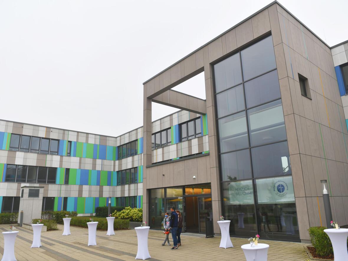 Die Bischof-Ulrich-Realschule in Augsburg-Kriegshaber