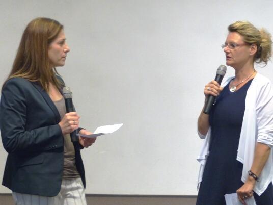 Fachtagung Lebensschutz_Birgit Geiß im Gespräch mit Heidi Meyerhöfer