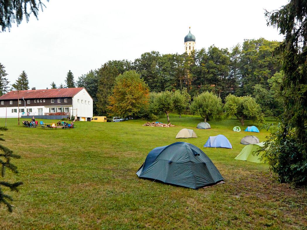 hauseigener Zeltplatz vom Tagungshaus Maria Beinberg