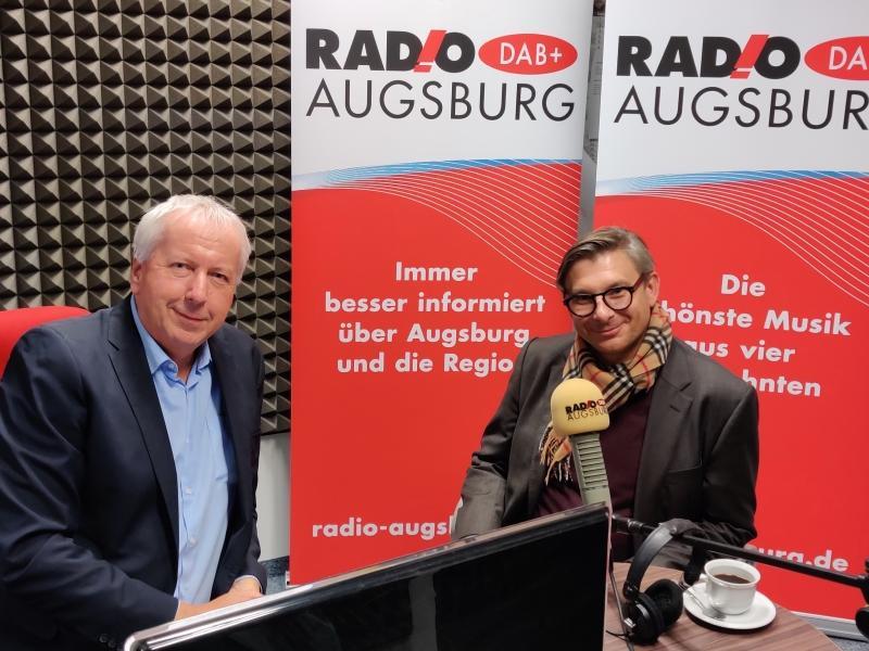 Radio Augsburg Cappuccino mit Finanzdirektor Quella