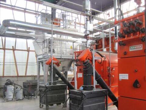 Auch die Energiezentrale der Erzabtei wurde besichtigt (Foto: Christoph Wessel)