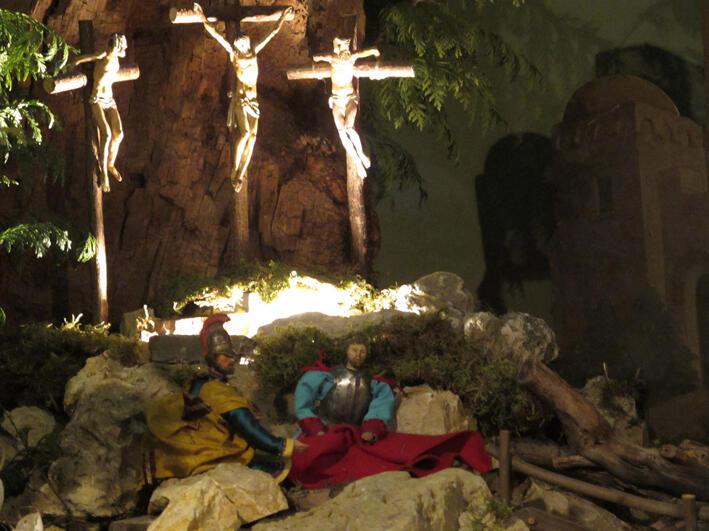 Nach der Kreuzigung Jesu losten die Soldaten um seine Gewand.
