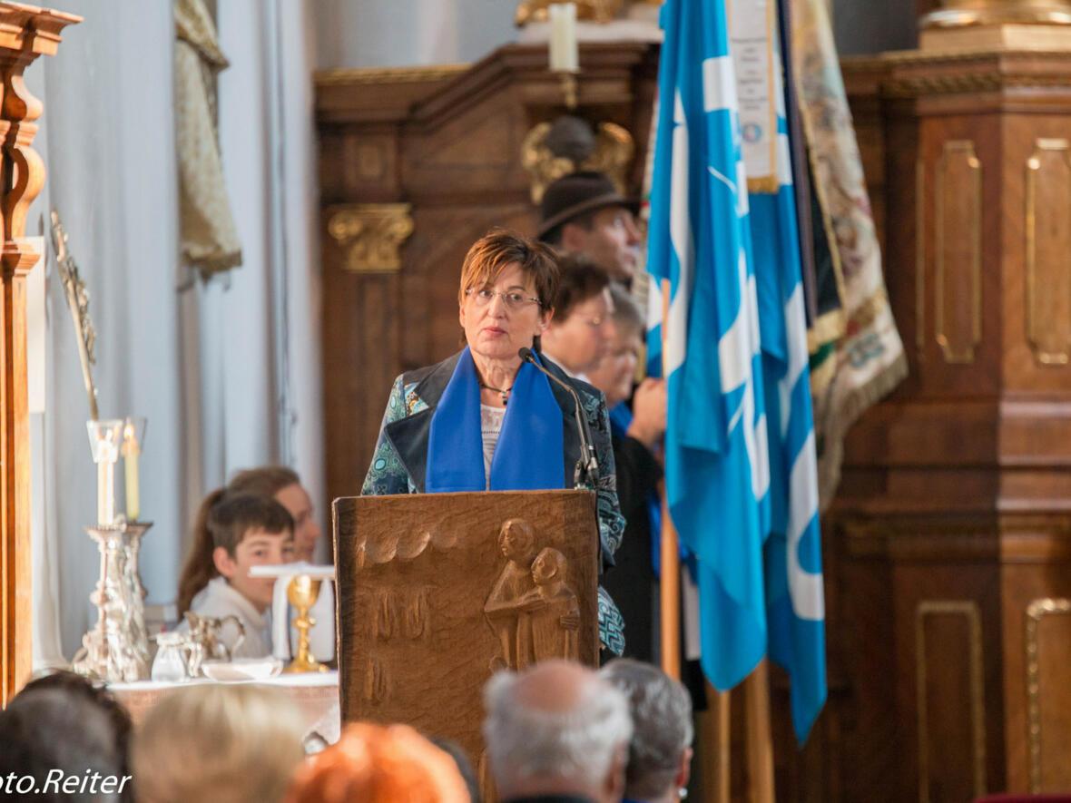 Renate Geiger bei der Dankansprache