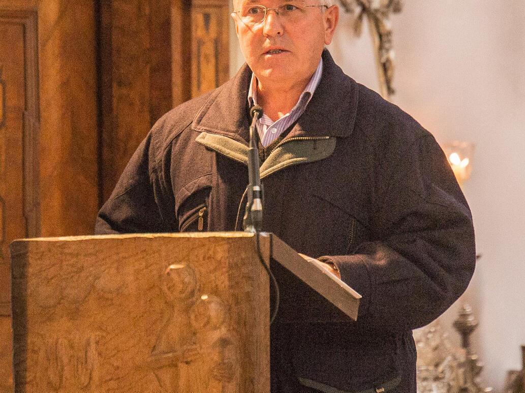 Kirchenpfleger A. Ostermöller bei seiner Jubiläumsansprache