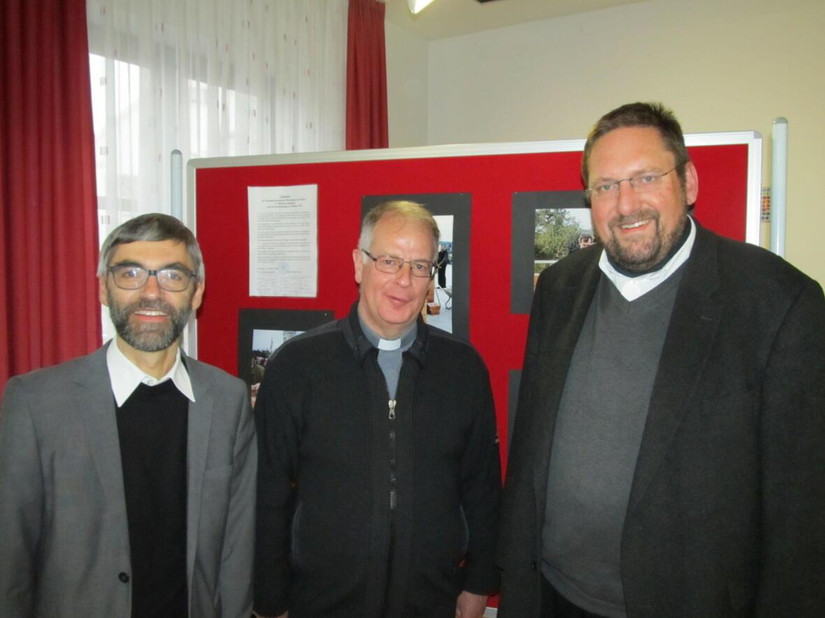 P. Bernhard mit seinen Vorgängern M.Kotonski und G. Kögel
