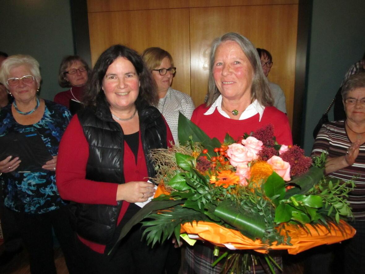 Blumen für Elisabeth Seiler zum 25 jähr. Chorjubiläum