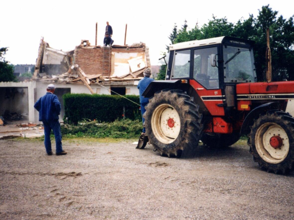 Juni 1990 Abriss des Anwesens Schrodt am Kirchplatz