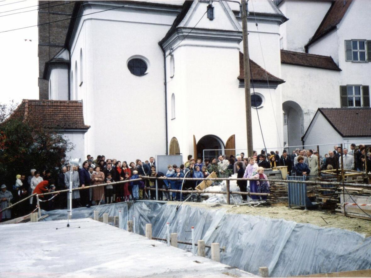21. Oktober 1990 Grundsteinlegung