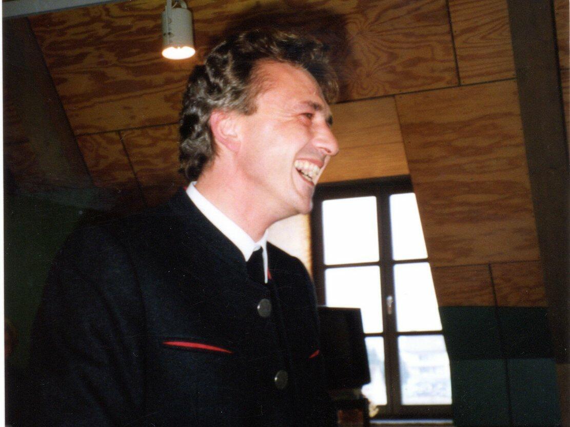 10.11. 1991 - Pfr. Walter Merkt bei der Einweihung