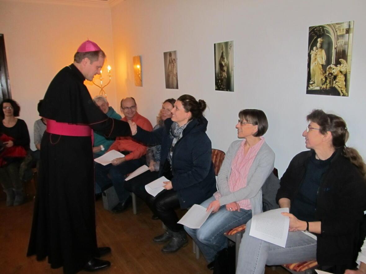 Begegnung mit Pfarrgemeinderäten und Kirchenverwaltung im Obergemach