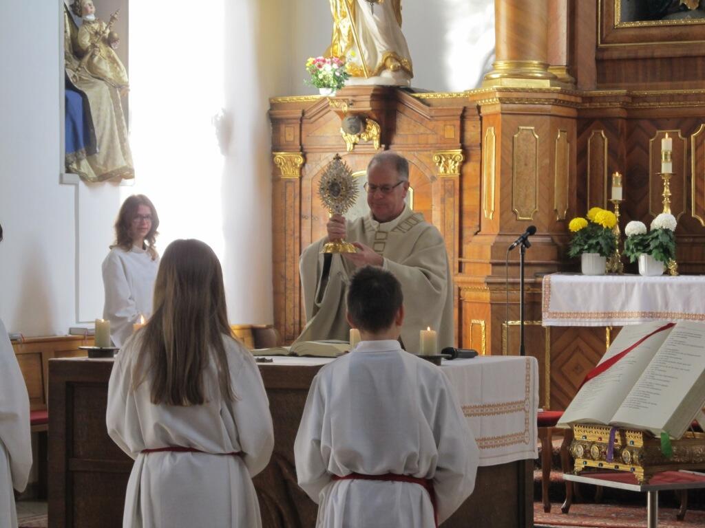 Patrozinium 2015 - Pater Bernhard gibt den Schlußsegen mit der Martins-Monstranz