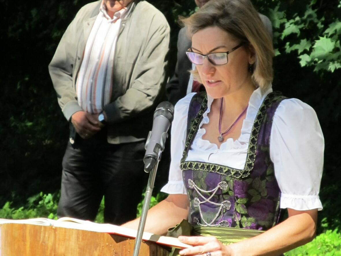 Die PGR-Vorsitzende aus Haberskirch bei der Lesung