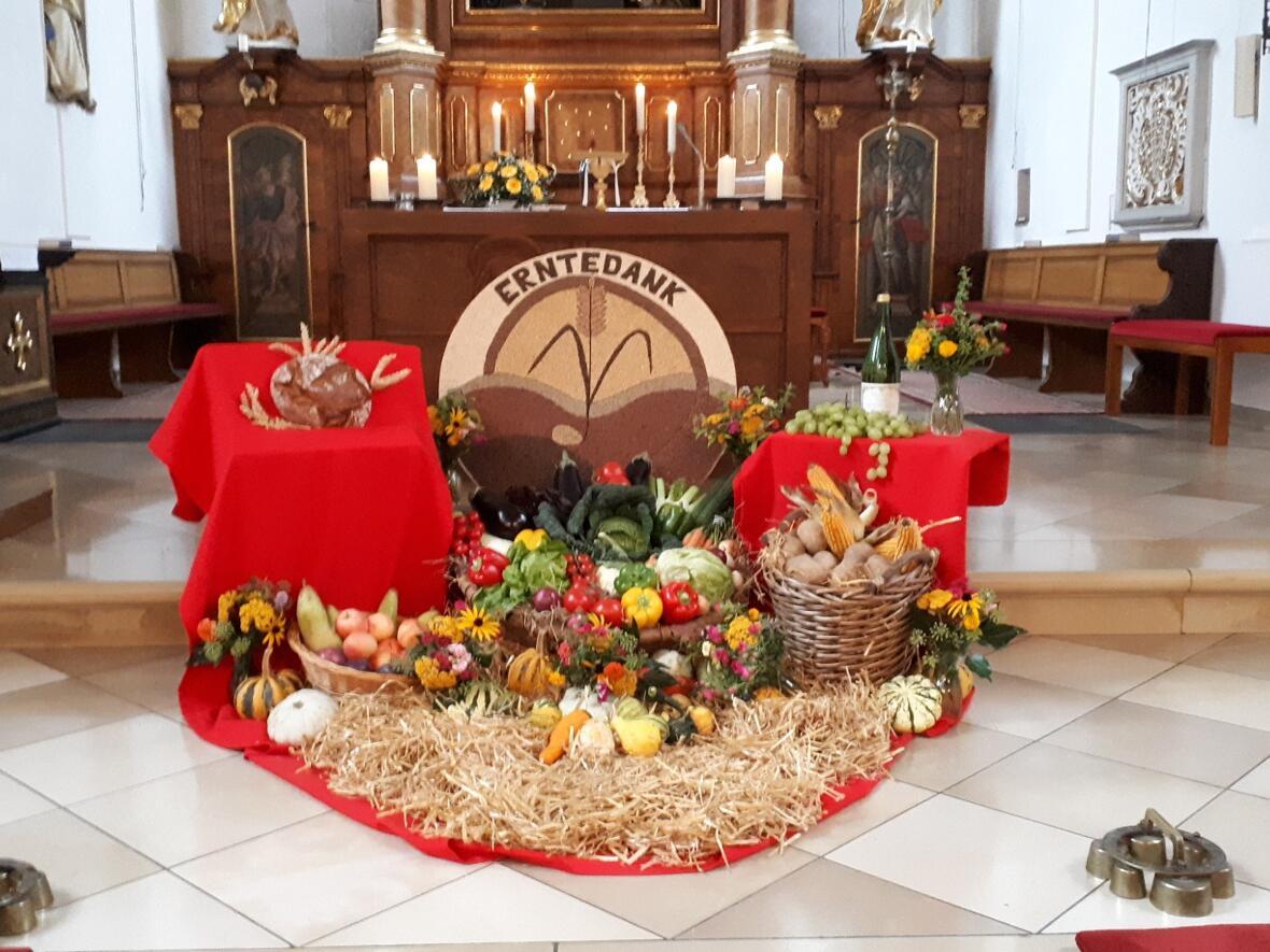 Erntedank-Altar 2020