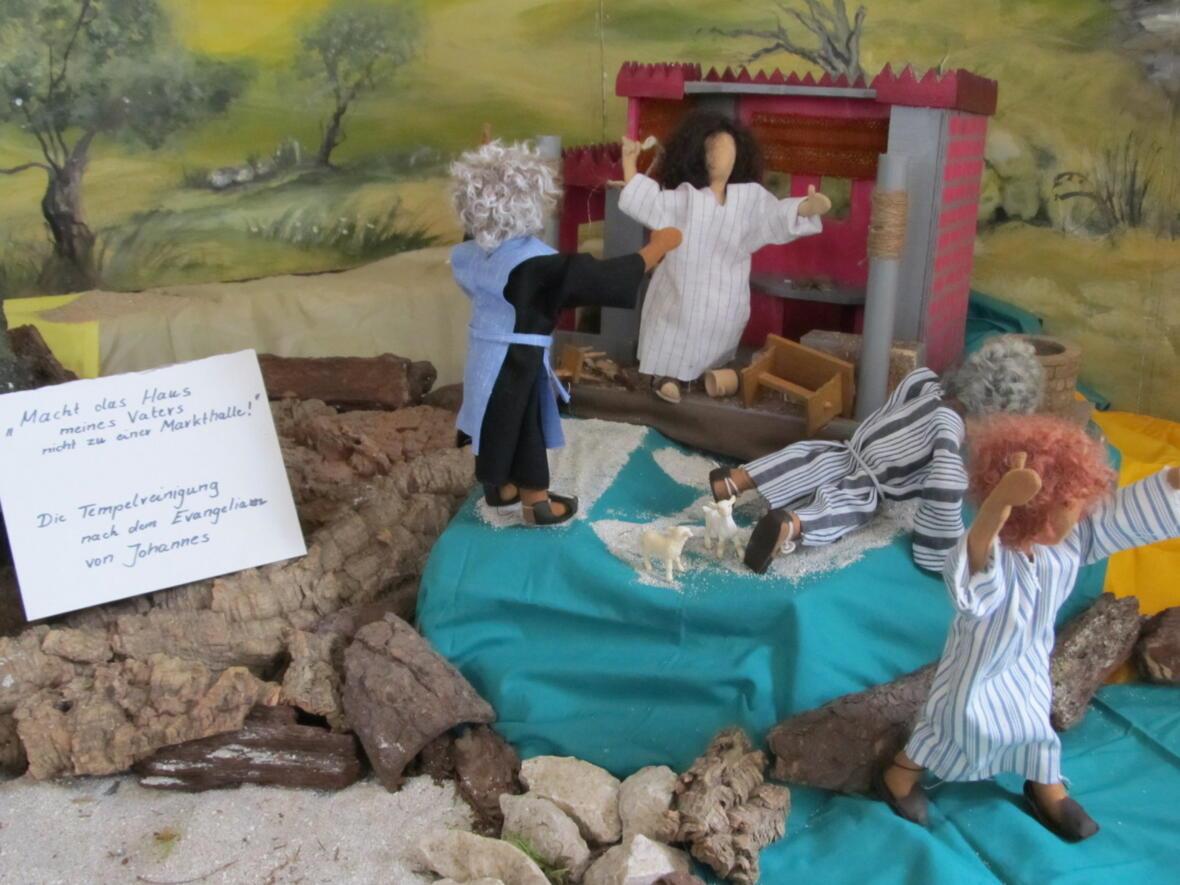 Fastenzeit 2018 - Ostergarten - Die Tempelreinigung