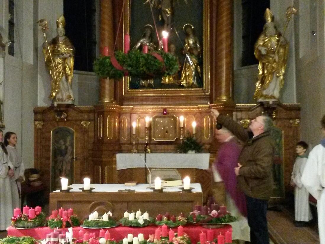 """Advent 2017 - """"Sehet die erste Kerze brennt..."""""""
