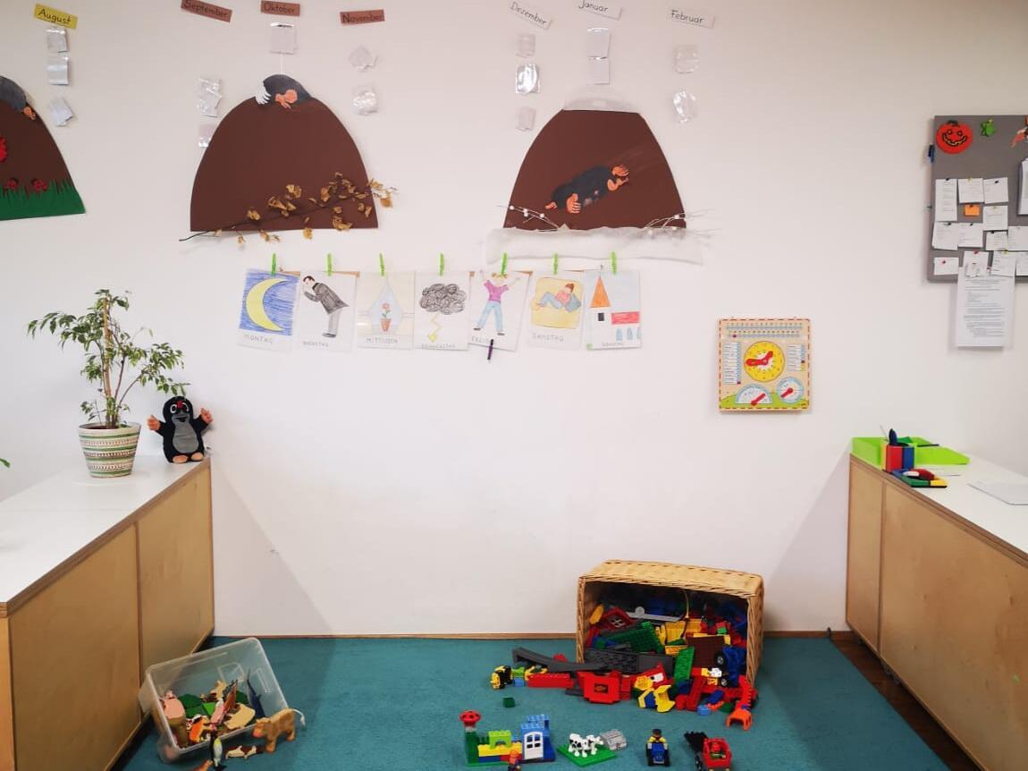 Eine Bauecke im Kindergarten