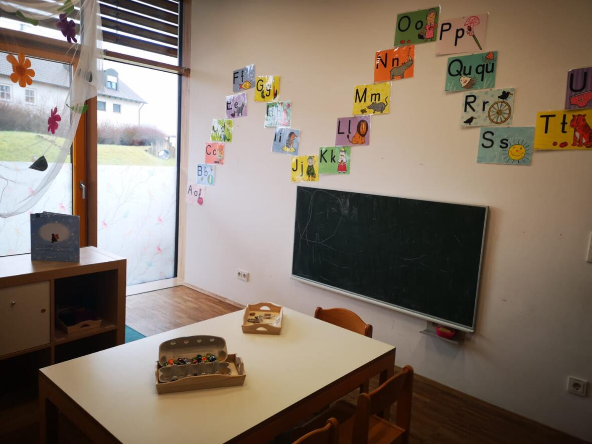 Der Nebenraum einer Kindergartengruppe