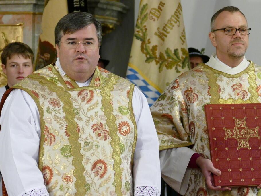 Generalvikar Harald Heinrich und Diakon Bernhard Winter
