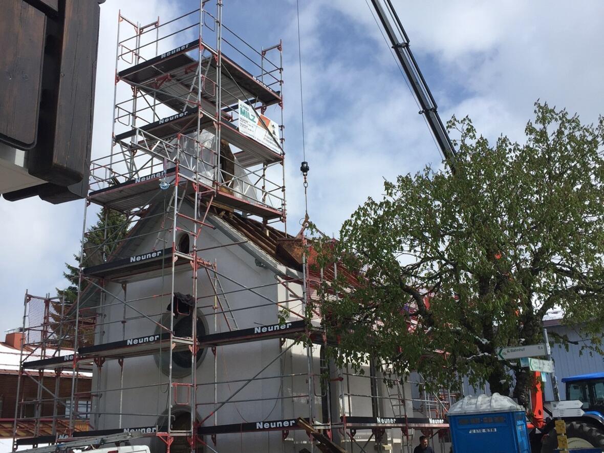 Renovierung der Lourdeskapelle in der Schloßstrasse