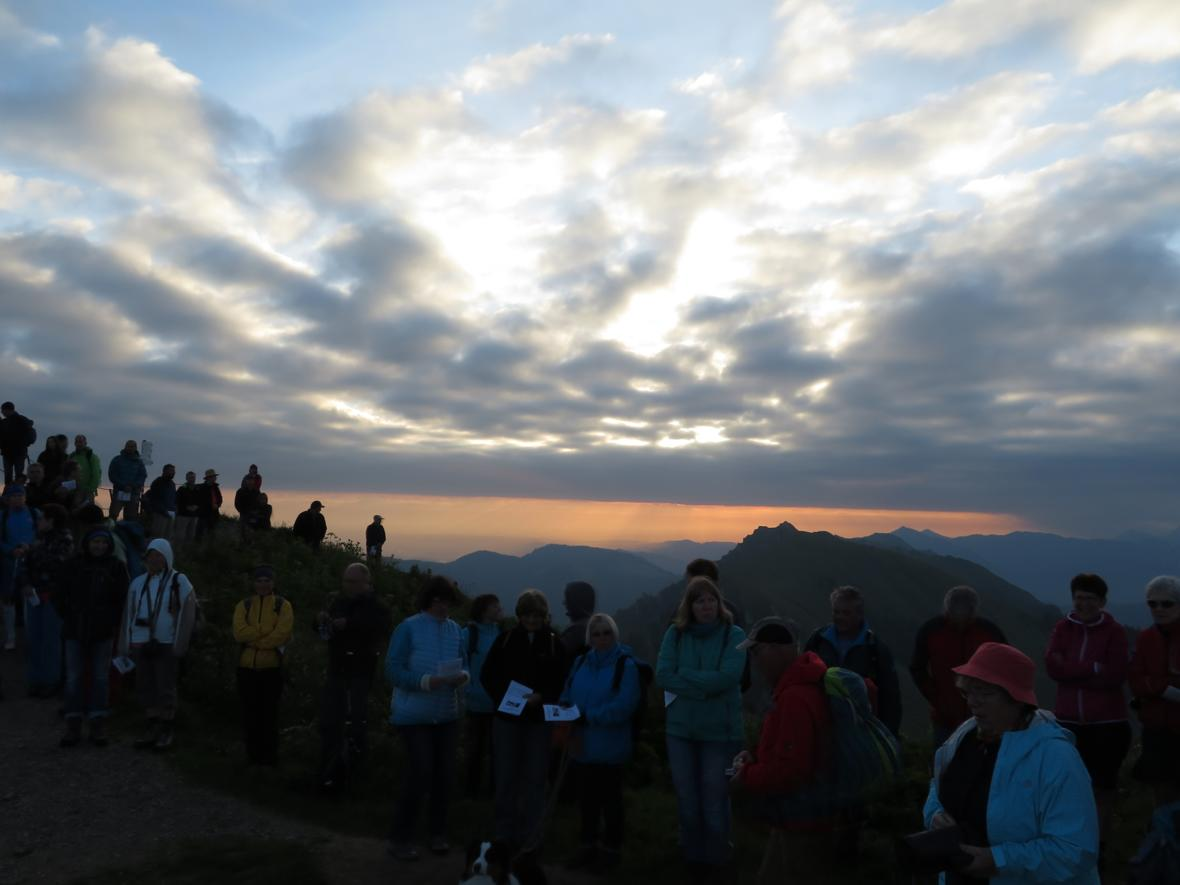 Um 6 Uhr morgens am Gipfel des Hochgrats