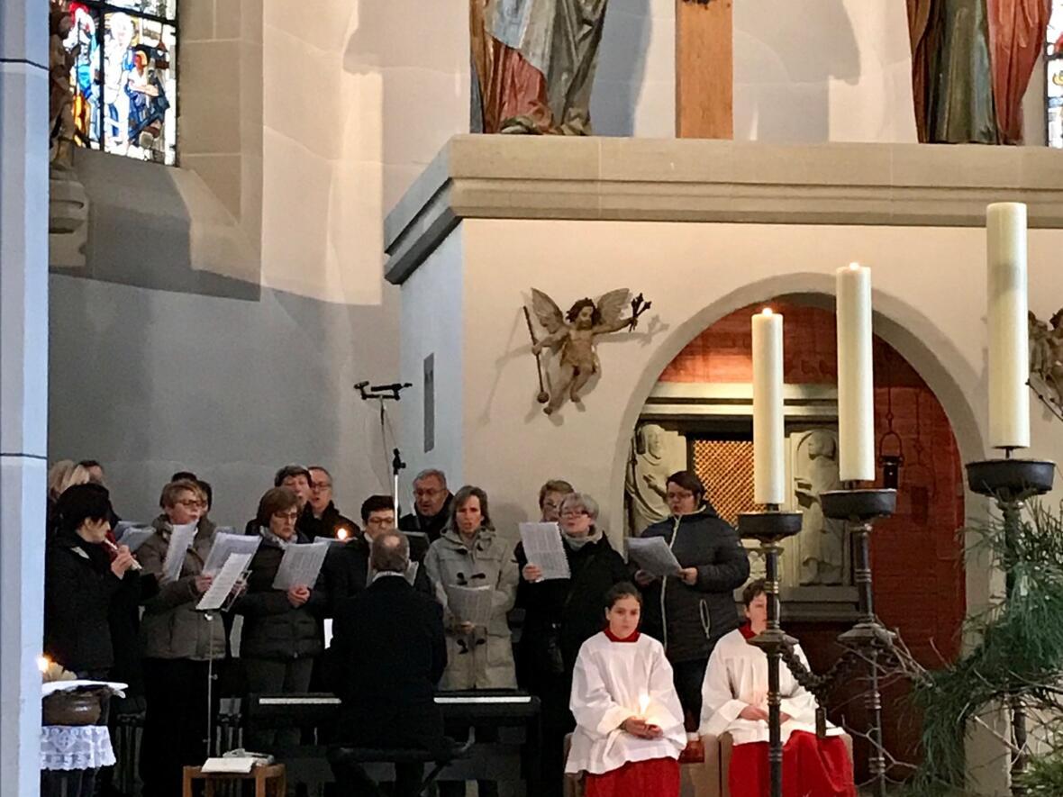 Mariä Lichtmess und Darstellung des Herrn, Gottesdienst musikalisch gestaltet vom Silberbühl-Lindele-Chor