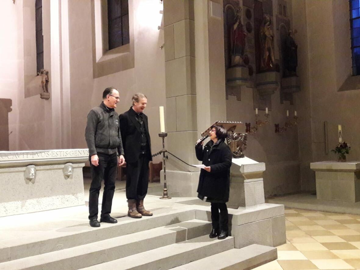 Samstag, den 2. März: an der Orgel Walter Dolak, Blasinstrumente Markus Kerber, organisiert vom Kulturausschuß der Pfarrgemeinde Oberstaufen