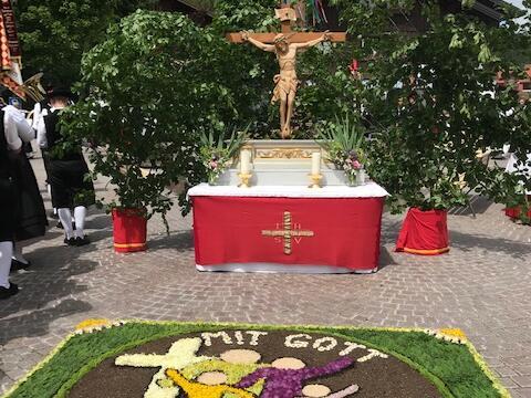 Altar an der Mariensäule