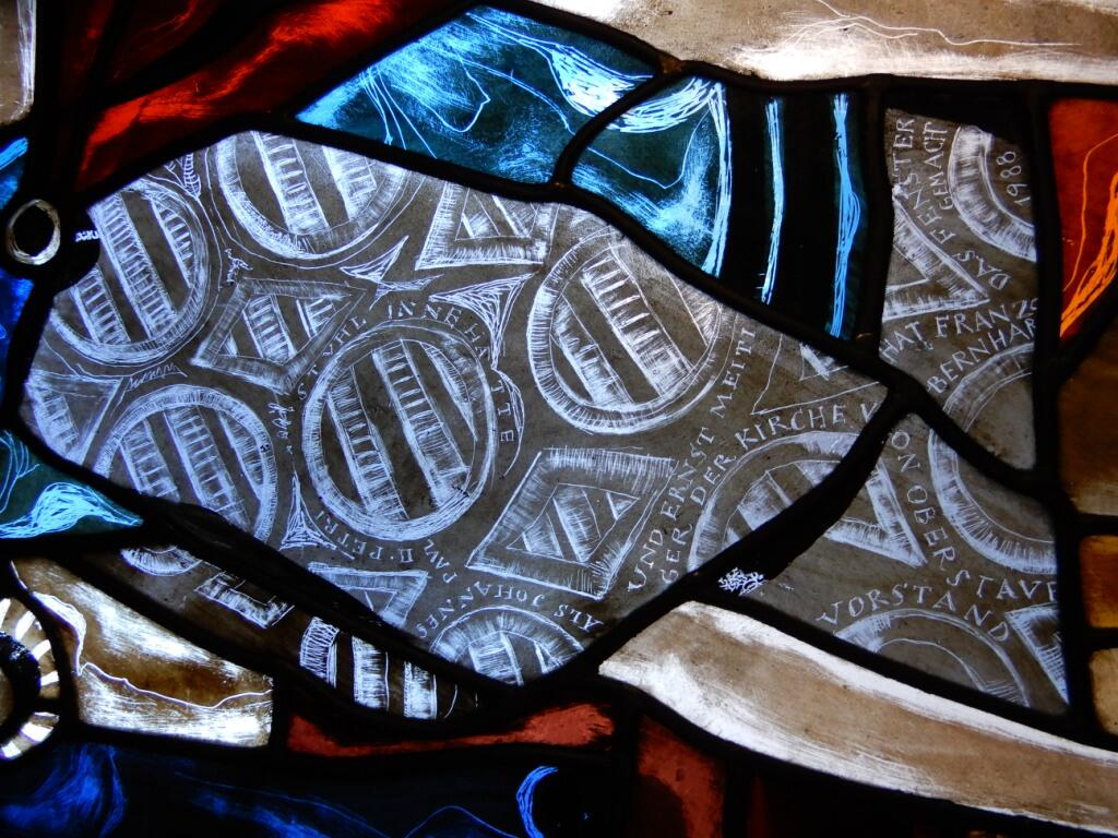 _055 Gerüstausblick Farbfensterdetail