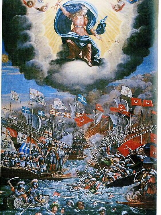 Die Seeschlacht von Lepanto - Wikemedia Commons, gemeinfrei
