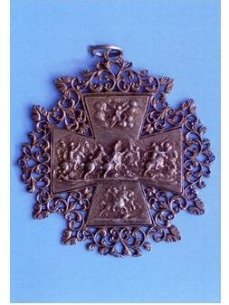 Ulrichskreuz, Silber mit Resten von Vergoldung, um 1700