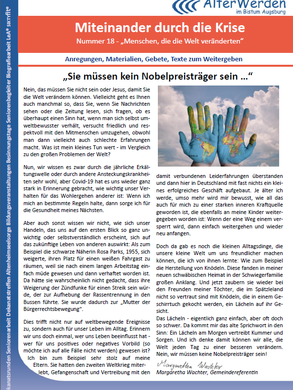 Wochenbrief 18 Homepage