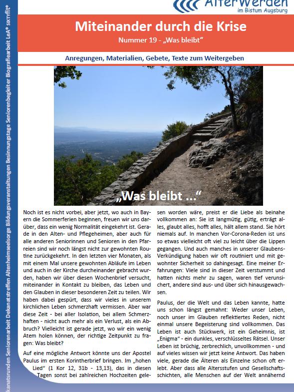 Wochenbrief 19 Seite 1 Homepage