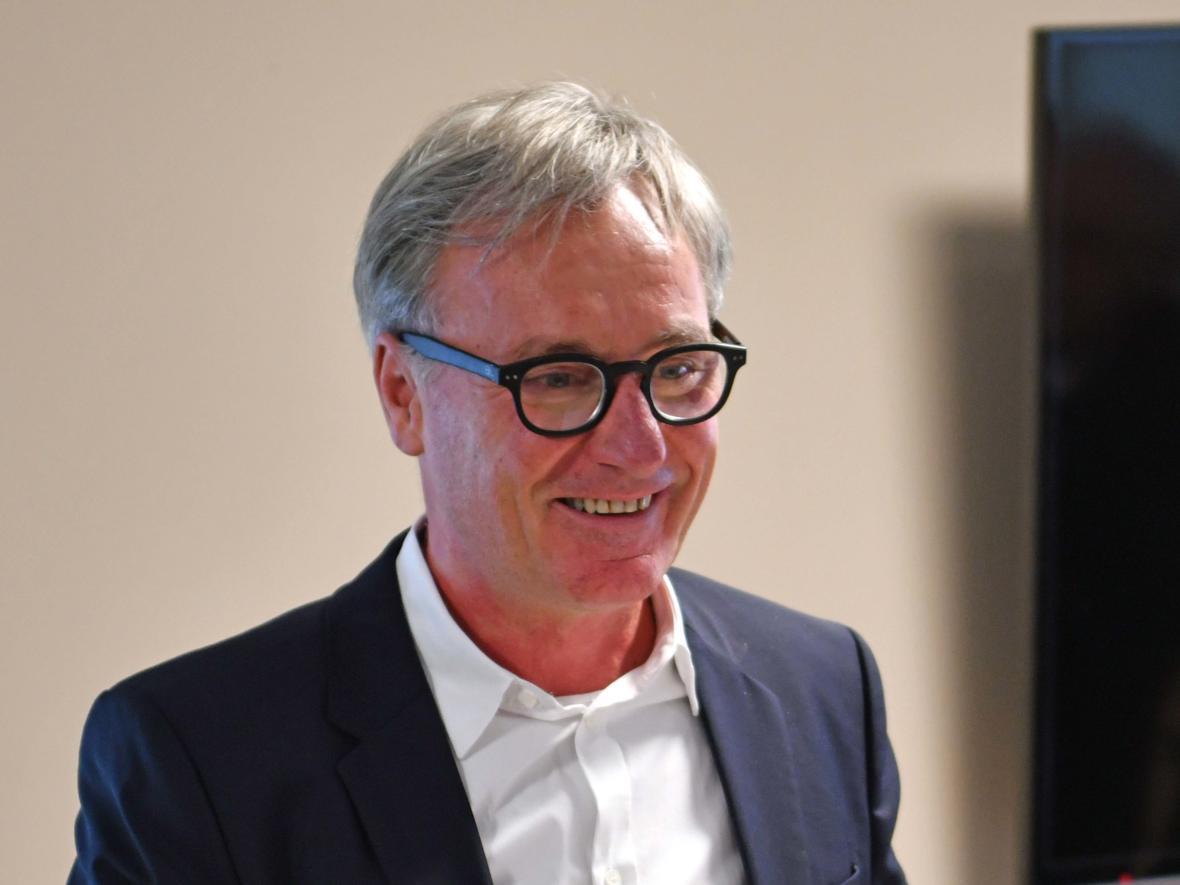 Ansprache des Architekten Harald Tiefenbacher (Foto: Nicolas Schnall / pba)