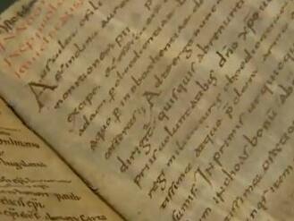 Regula S. Benedicti aus Benediktbeuern, Füssen St. Mang, um 820, Pergament, 21,6 x 14,2 cm, ABA HS 1