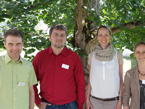 Von links: Tobias Lachenmayr, Raphael Hupe, Anja Müller und Ursula Weismantel. (Foto: Karl-Georg Michel/pba)
