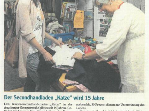 """Der Secondhandladen """"Katze"""" wird 15 Jahre"""