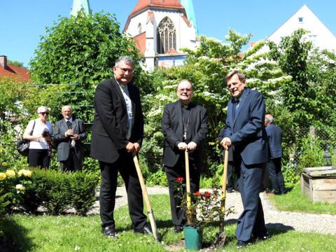 01_100 Jahre Diözesan-Caritasverband_Pflanzaktion im Bischofshausgarten (Foto Annette Zoepf_Caritas Augsburg)