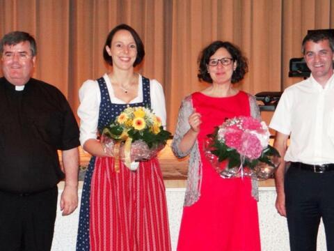 (v.l.) Generalvikar Harald Heinrich, Anna Schmelcher, Angelika Maucher, Karl Wolf. (Foto: Barbara Morhart)
