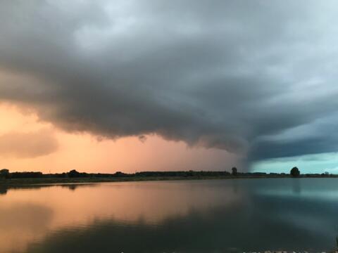 Unwetter wie diese zeigen: Beim Klimaschutz ist es 5 vor 12 (Symbolfoto: Karl-Georg Michel)