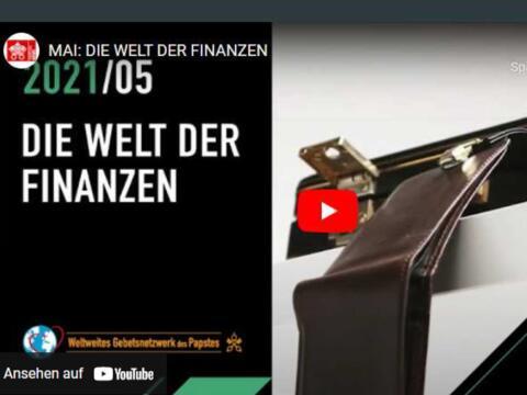 In seinem Monatsvideo warnt Papst Franziskus vor aufgeblähten Finanzmärkten (Grafik: Vatican News)