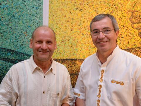 Pirmin Spiegel (Misereor) und Pater Michael Heinz (Adveniat)