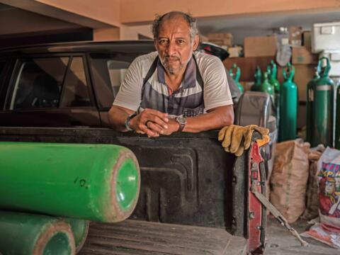 Lebensretter von Lima: Adveniat-Projekt-Partner Juan Goicochea. (Fotos: Luisenrrique Becerra/Adveniat)