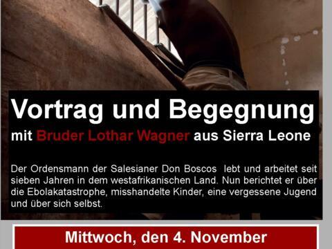 Salesianerbruder Lothar Wagner informiert über Ebola, misshandelte Kinder und eine vergessene Jugend