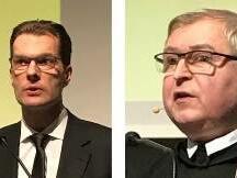 Die Referenten des Studiennachmittages: Prof. DDr. Thomas Marschler und Prof. Dr. Stephan Haering OSB