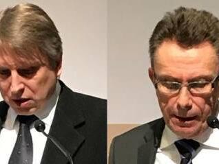 Die Referenten des Abends: Domkapitular Dr. Thomas Groll und Dr. Franz-Rasso Böck